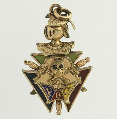 Knights of Pythias Vintage Fob Pendant - Gold Filled FCB Fraternal Collectible