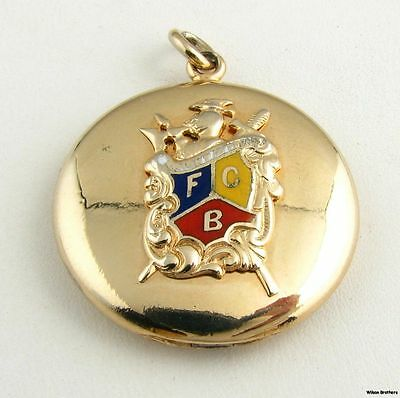 Knights of Pythias - Vintage K of P Picture Locket Fob Pendant fraternal Member