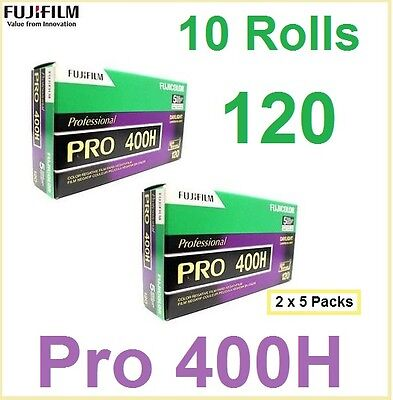 10 Rolls Fuji Pro 400H 120 Color Negative Film Daylight 400 Exp:2018