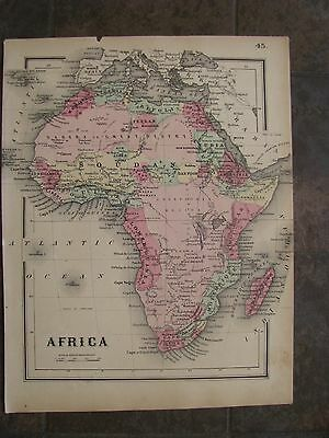 1864 ORIGINAL Map of Africa & Madagascar