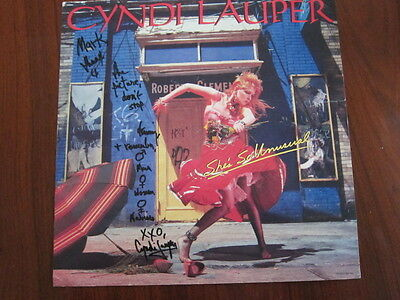 CYNDI LAUPER She's so unusual 12x12 poster  AUTOGRAPHED