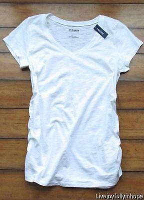 OLD NAVY MATERNITY ~ New! NWT L or XL ~ Textured Cotton V-Neck Tee