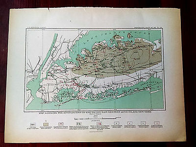 1904 USGS Map Showing Cretaceous Distribution on Western Long Island New York