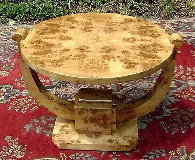 French Art Deco style French Elm coffee table