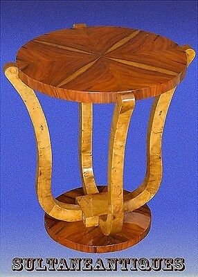 Classic Elm and rosewood Art Deco inspired side table