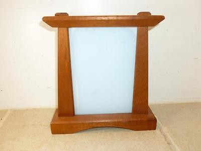 """Newly Crafted Craftsman Mission Arts & Crafts Style Mahogany 4""""X6"""" Picture Frame"""
