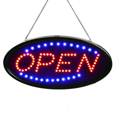 AGPTEK® Bright LED OPEN Business Sign Neon Light Animated Motion ON/OFF Switch