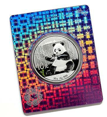 2017 30g Silver Panda Coin w/ Praying Mantis Color Privy, BU Sealed in COA #A423