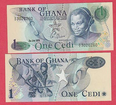 1976 Ghana 1 Cedi 10 Consecutive Ser# Notes Unc