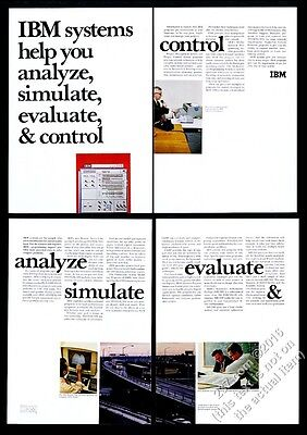 1966 IBM 360 computer system color photo vintage print ad