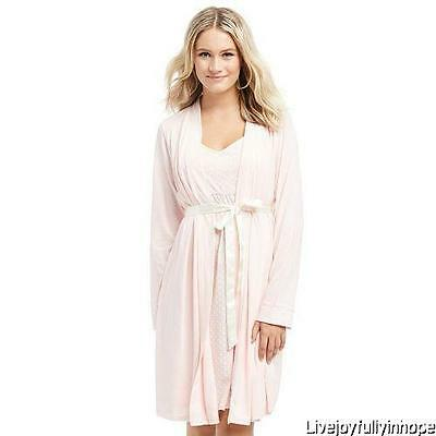 Oh Baby! MOTHERHOOD MATERNITY ~ New! S or M ~ Pink NURSING Gown & Robe Set