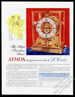 1956 Jaeger-LeCoultre Atmos clock color photo vintage print ad