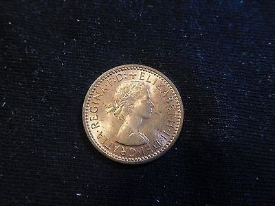 Great Britain 1956 Farthing UNC Key Date #1