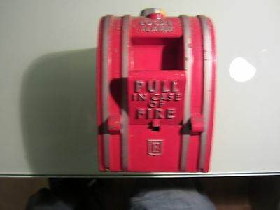 Vintage Edwards Manual Pull Down Local Fire Alarm Station Box