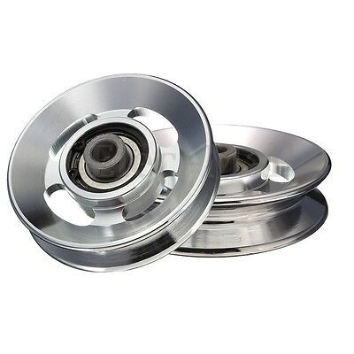 2X Universal 88mm Aluminium alloy Bearing Pulley Wheel Cable Gym Equipment Part
