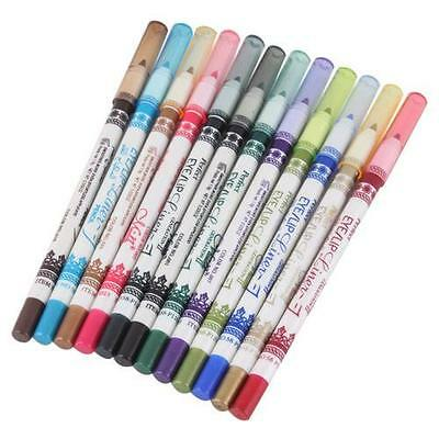 12 Pieces Colour Eye Liner Eyeliner Lip Eyeshadow Pencil Pen Cosmetic Makeup Set