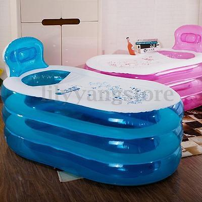 Foldable Portable Blowup Adult Inflatable PVC Bath Tub Home Indoor Spa Relaxing