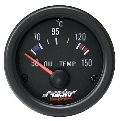 "Simoni Racing 2"" Electrical Black Carbon Look Oil Temperature Gauge"