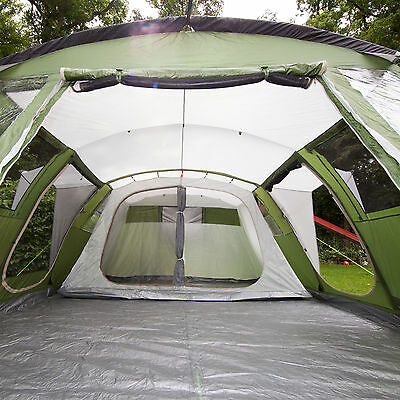 skandika Nizza 6 Person/Man Family Tent Camping Large Sewn-in Groundsheet New