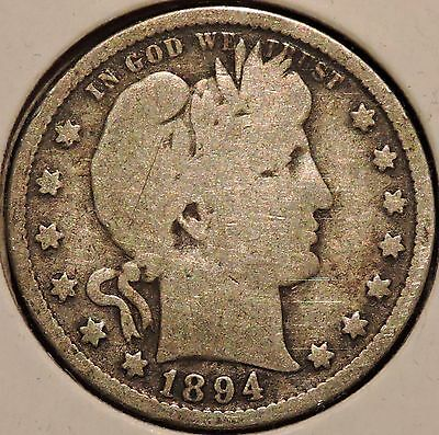 Barber Quarter - 1894 - Historic Silver! - $1 Unlimited Shipping