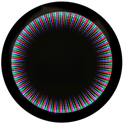 LED Illuminated 70cm Circular Wall Infinity Mirror Light  - SP1221