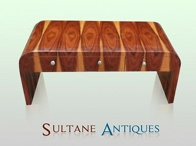 Rosewood Art Deco Style six drawers coffee table