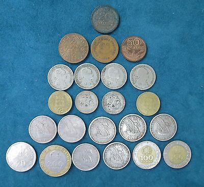 Lot Of (23) Portugal Coins 1921-1997 ~ 2 Silver Coins ~ See Photos