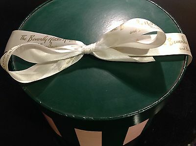 Beverly Hills Hotel and Bungalows Hat/Gift Box with Logo Ribbon and Tissue Paper