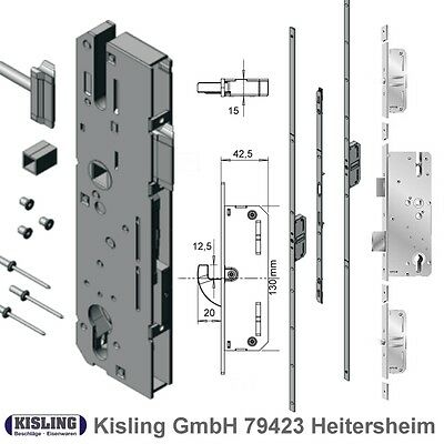 KFV Multi-point locking system with Swivel hook Box 130 mm 35 40 45 50 55 65