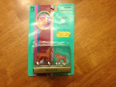 Winner's Choice Micro Mini Model Horses Belgian Signed by Sculptor Mare & Foal