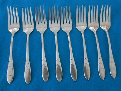 Vintage Oneida Community Lady Hamilton Silverware Lot Of 8 Salad Forks