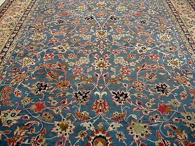 10X13 1940s GORGEOUS AUTHENTIC HAND KNOTTED 80+YRS ANTQ WOOL ISFAHAN PERSIAN RUG