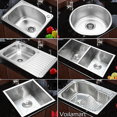 Kitchen Stainless Steel Catering Sink Single Double Bowl Topmount Undermount