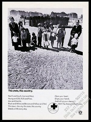 1971 Native American Indian desert photo American Red Cross vintage print ad