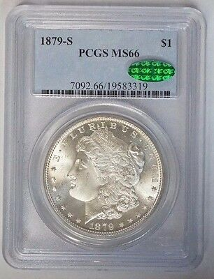 1879 S $1 Morgan Silver Dollar PCGS MS66 CAC Approved Blast White