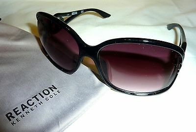 3c13f1f7e30c6 Kenneth Cole Reaction KC1232 Women s Square Sunglasses 6101B-150 BLACK ...