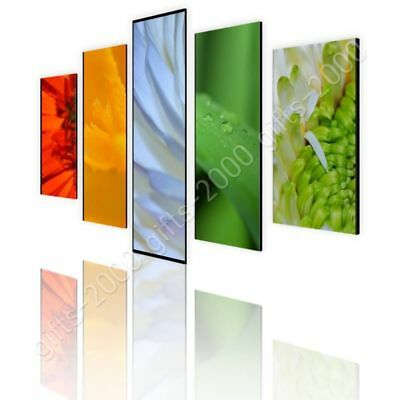 CANVAS (Rolled) Mix Of Flowers Split 5 Panels 5 Panels Canvas For Bedroom