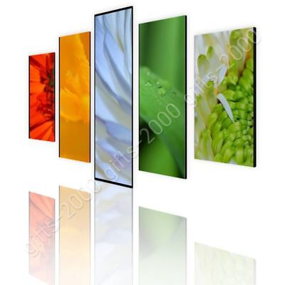 Mix Of Flowers by Split 5 Panels   Canvas (Rolled)   5 Panels Wall art picture