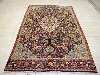 9X5 1940's AUTHENTIC HAND KNOTTED 70+YRS ANTIQUE WOOL YAZD PERSIAN RUG