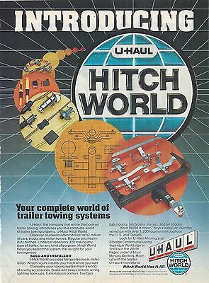 1981 U-Haul Hitch World Print Advertising Trailer Towing Systems Vintage Ad