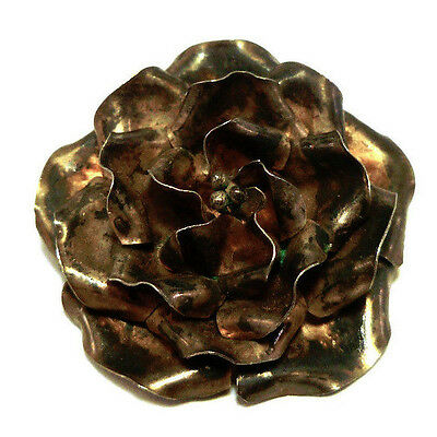 Vintage Taxco 925 Sterling Silver Rose Pin Brooch