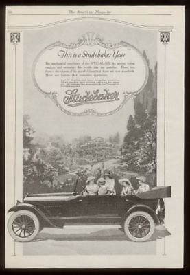 1920 Studebaker Special Six open touring car vintage print ad