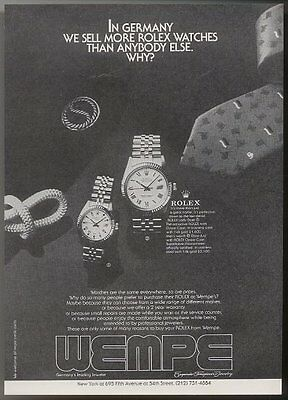 1981 Rolex Datejust & Lady Date watch photo vintage print ad