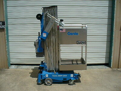 2017 Genie AWP-25S Personnel single man aerial lift scissor boom work platform