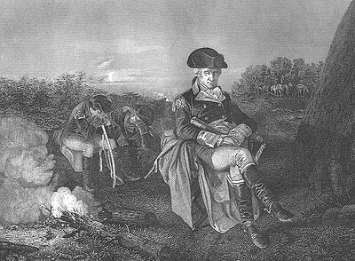Revolutionary War George Washington BATTLE OF MONMOUTH, 1865 Art Print Engraving