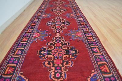 3'10x13'5 Colorful Genuine S Antique Persian Hand Knotted Tribal Rug Wool Runner