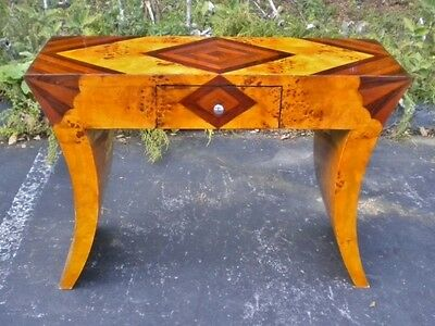 Inlaid Art Deco style table console maple/Rosewood
