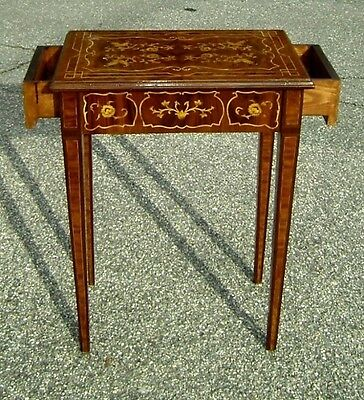 Florence style superb marquetryLady's desk commode