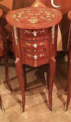 In 4 Weeks Louis XV style side table marquetry commode