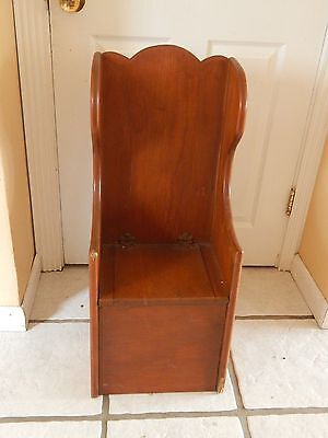 Antique 1910 Vintage Child Wood Chair Seat Lid  Potty Training No Bowl LOCAL